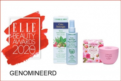 Spray Crio Sinergia en Cream Shades of Dalia tijdens de Elle Beauty Awards